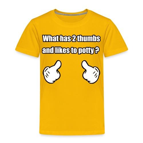 2Thumbs-Potty  - Toddler Premium T-Shirt