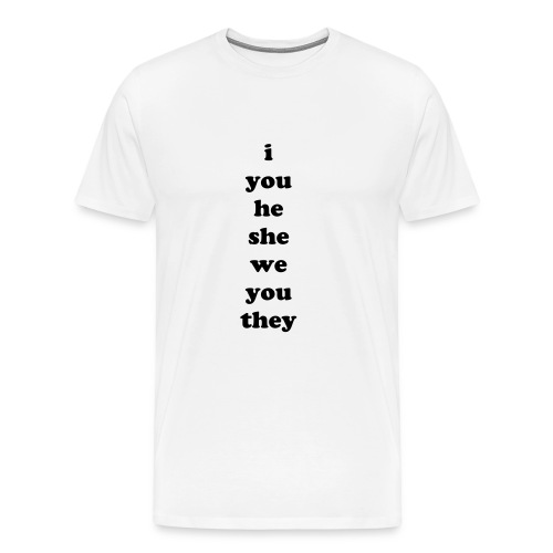 Subject-Object Pronouns - Men's Premium T-Shirt
