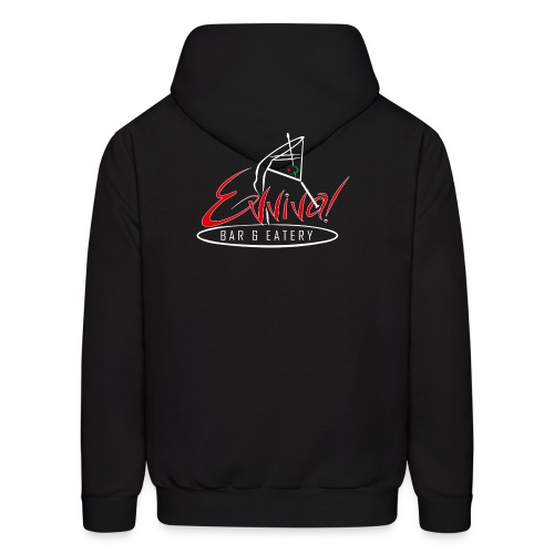 Men's Black Sweatshirt with Hood - Men's Hoodie