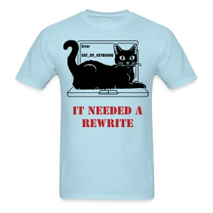 WRITER'S T-SHIRT CAT REWRITE MEN - Men's T-Shirt