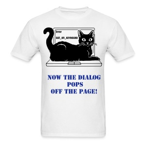 WRITER'S T-SHIRT DIALOG POPS - Men's T-Shirt