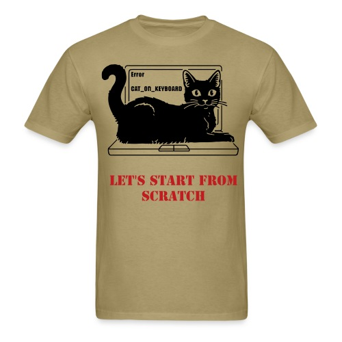 WRITER'S T-SHIRT WITH CAT REVISION - Men's T-Shirt
