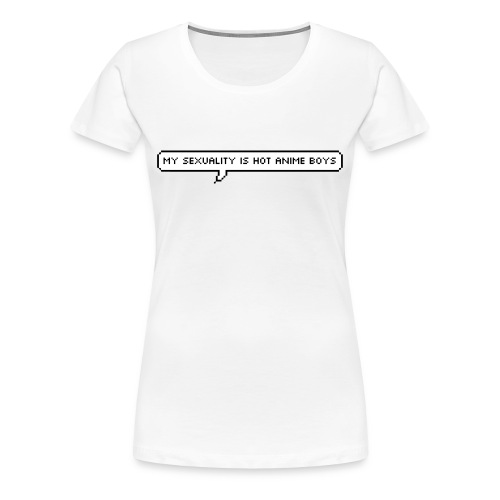 My sexuality is hot anime boys tee - Women's Premium T-Shirt