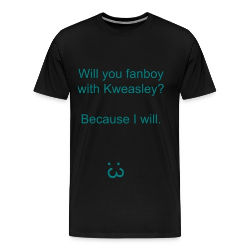 Kweasley Shirt - Fanboy Aqua - MENS - Men's Premium T-Shirt