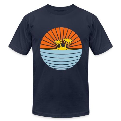 paradise blue - Men's Fine Jersey T-Shirt