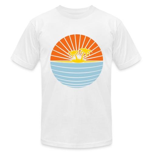 paradise white - Men's Fine Jersey T-Shirt