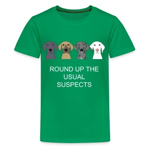 USUAL SUSPECTS T-SHIRT FOR KIDS GREEN - Kids' Premium T-Shirt
