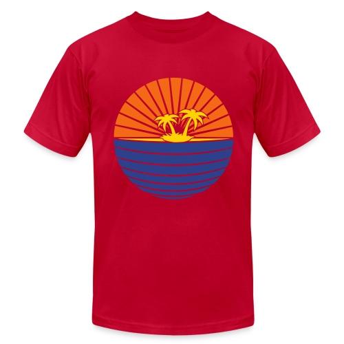 paradise light blue - Men's  Jersey T-Shirt