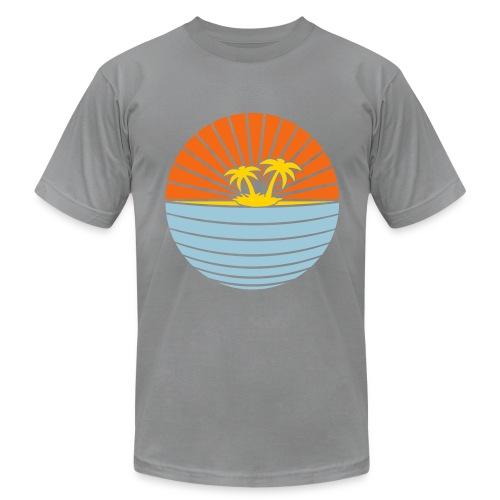 paradise slate - Men's Fine Jersey T-Shirt