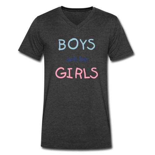 Boys Will Be Girls - Men's V-Neck T-Shirt by Canvas
