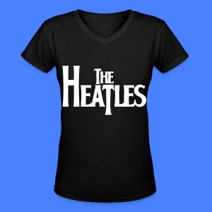 The Heatles Women's T-Shirts - Women's V-Neck T-Shirt