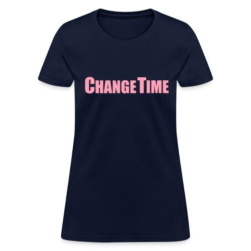 Woman CHANGETIME Standard T-Shirt Navy - Women's T-Shirt
