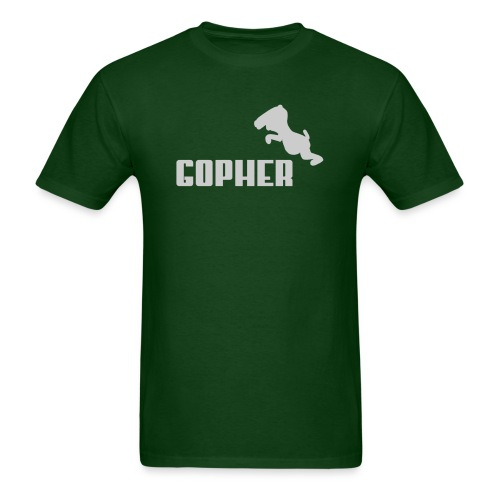 Gopher - Gray (Male) - Men's T-Shirt