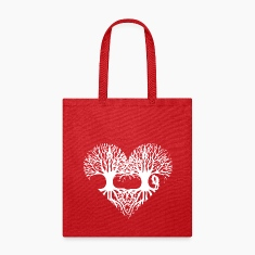 valentine's day tree heart love roots couple kiss  Bags & backpacks