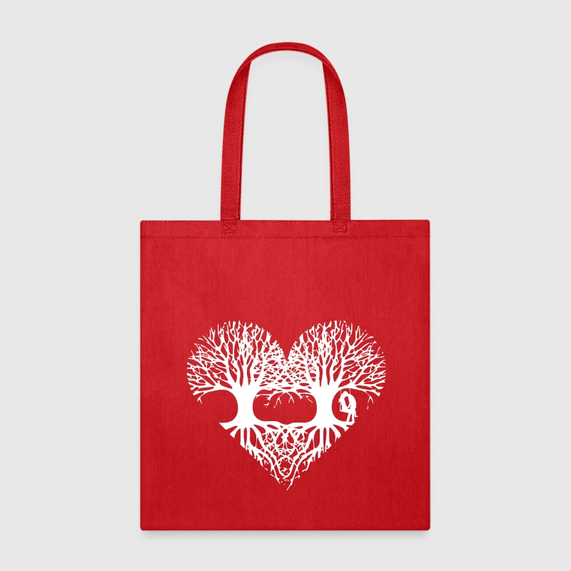valentine's day tree heart love roots couple kiss  Bags & backpacks - Tote Bag