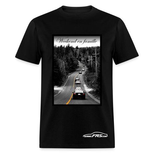 Weekend en Famille - QuebecFR-S - T-shirt pour hommes