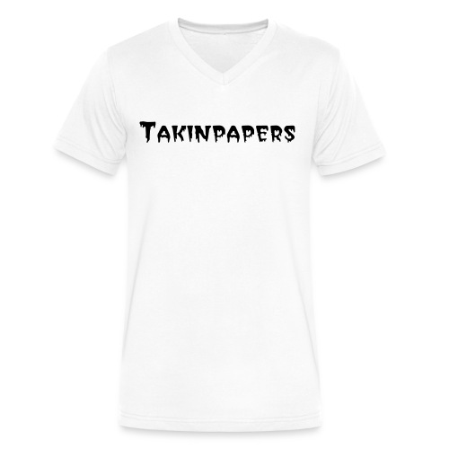 Takinpapers Men's V-Neck T-Shirt By Canvas - Men's V-Neck T-Shirt by Canvas