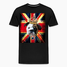 50 English Bulldog Baby Bully Union Jack UK Flag I