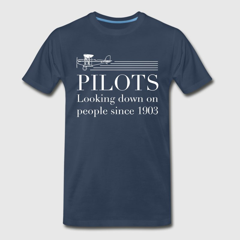 Pilots look down on people T-Shirts - Men's Premium T-Shirt