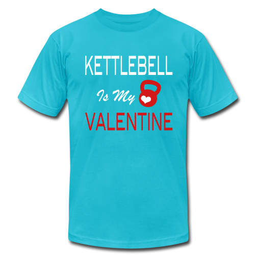 kettlebell is my valentine - funny T-Shirts - Men's Fine Jersey T-Shirt