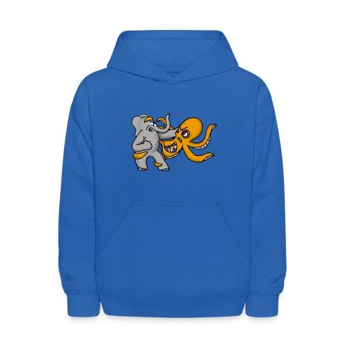 Elephant vs. Octopus Hoodie - Kids' Hoodie