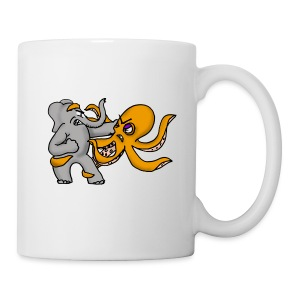 Elephant vs. Octopus Mug - Coffee/Tea Mug