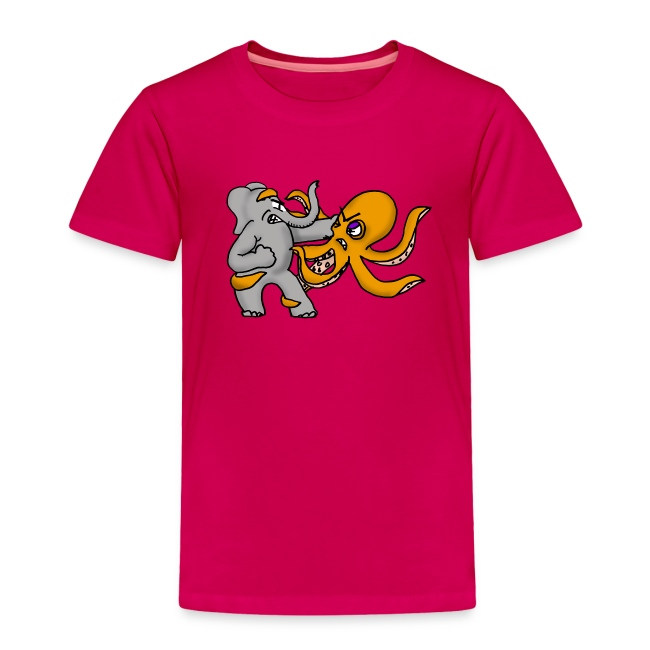 Elephant vs. Octopus Toddler Shirt