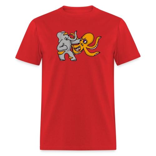Elephant vs. Octopus Shirt - Men's T-Shirt