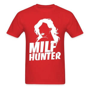MilfHunter - White Print - Men's T-Shirt