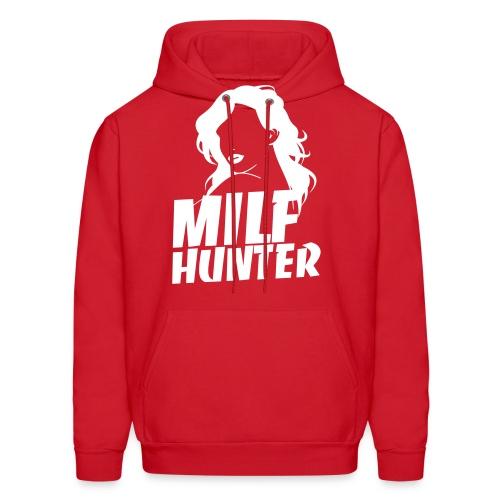 Milfhunter Hoodie - White Print - Men's Hoodie