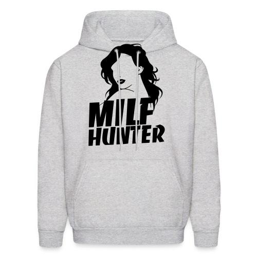 Milfhunter Hoodie - Black Print - Men's Hoodie