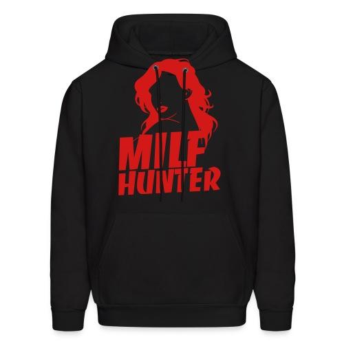 Milfhunter Hoodie - Red Print - Men's Hoodie