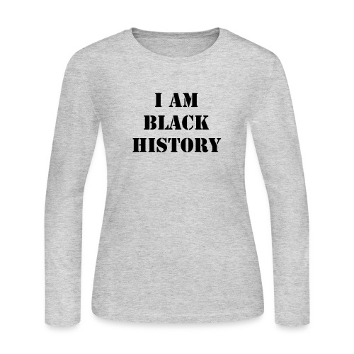 Black History - Long Sleeve - Women's Long Sleeve Jersey T-Shirt