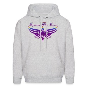 Spread The Love Purple Hoodie - Men's Hoodie