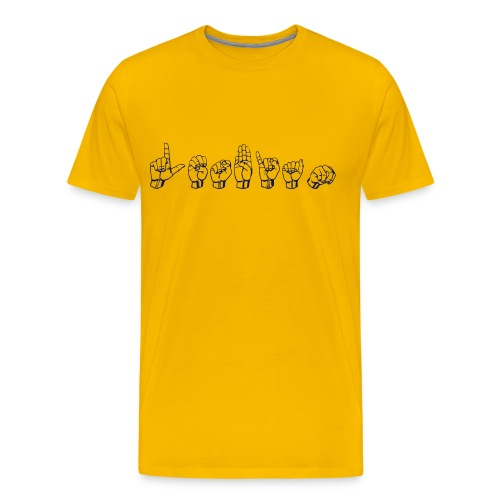 Lesbian ASL - Men's Premium T-Shirt