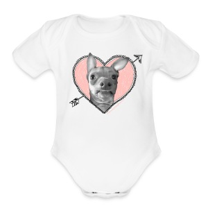 Tuna Heart - Short Sleeve Baby Bodysuit