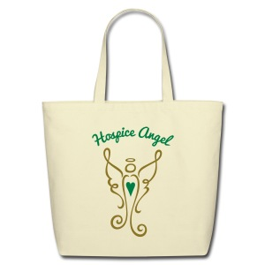 Hospice Angel Tote Bag (gold METALLIC) - Eco-Friendly Cotton Tote