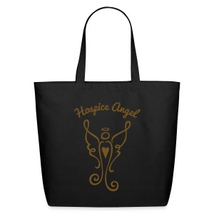 Hospice Angel Tote Bag (gold GLITTER) - Eco-Friendly Cotton Tote