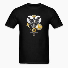 (Kingdom Hearts) All for One and One for All Silve T-Shirts