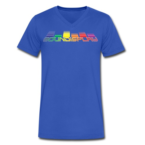 Soundisplay V-Neck (light blue) - Men's V-Neck T-Shirt by Canvas