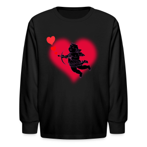 Kid's Valentine's T-shirt Cupid Kid's Valentine's Shirt - Kids' Long Sleeve T-Shirt