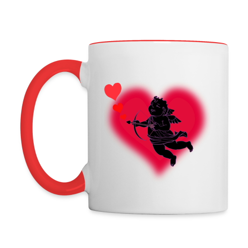 Valentine's Cup Cupid Love Coffee Cup Mug  - Contrast Coffee Mug