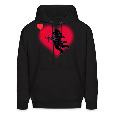 Valentine's Hoodie Men's Cupid Love Hooded Sweatsh