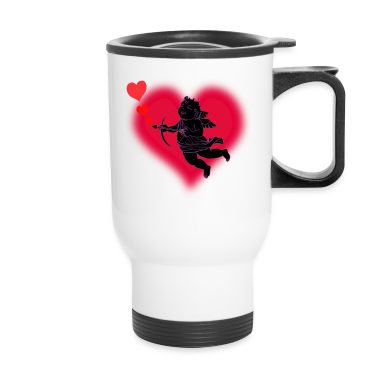 Valentine's Travel Mug Cupid Love Cup Mug