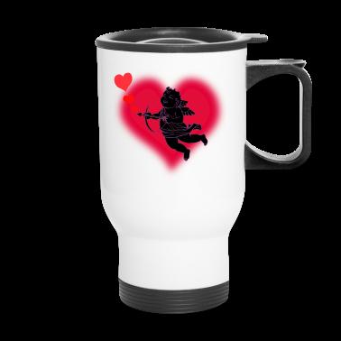 Valentine's Travel Mug Cupid Love Cup Mug
