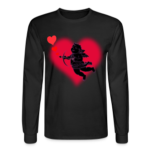 Valentine's Shirt Cute Cupid Love Men's Shirt - Men's Long Sleeve T-Shirt