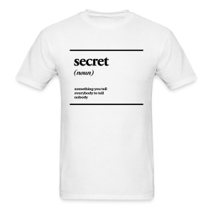 secret - Men's T-Shirt