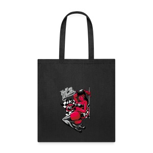 Devil Pin-Up Girl - Hell on Wheels - Tote Bag