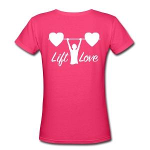 Lift Love V-Neck BACK - Women's V-Neck T-Shirt