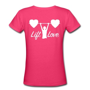 Lift Love V-Neck BACK - Women's V-Neck T-Shirt